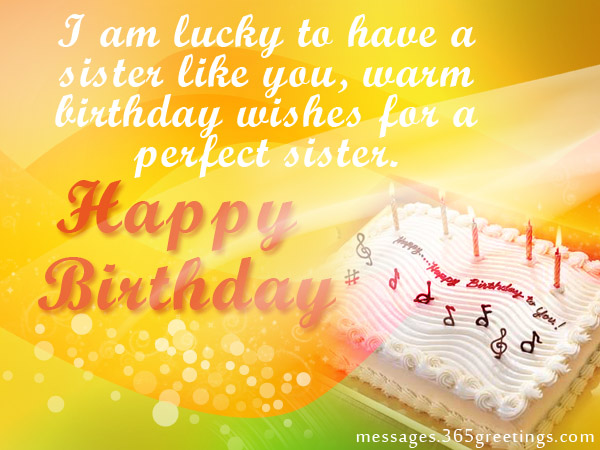 birthday message quotes for sister ; sister-birthday