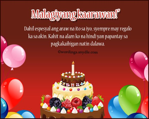 birthday message to best friend tagalog ; 23e25c4486c84f68175e66c8a9d5b068