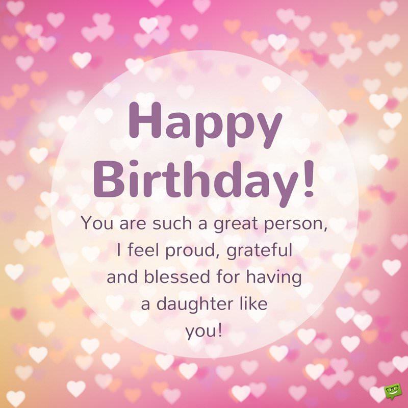 birthday message to self tagalog ; Sweet-birthday-wish-for-daughter-on-pink-background-with-hearts-1