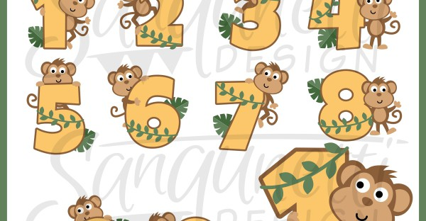 birthday numbers clipart ; monkey-numbers-clipart-600x312