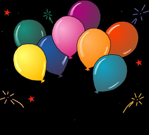 birthday party balloons clipart ; Party-balloons-clipart-free-images