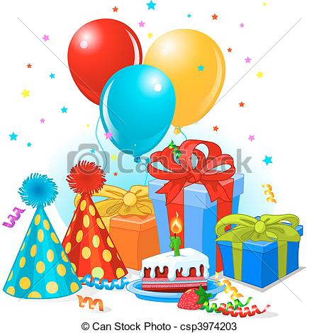 birthday party balloons clipart ; birthday-gifts-and-decoration-eps-vectors_csp3974203