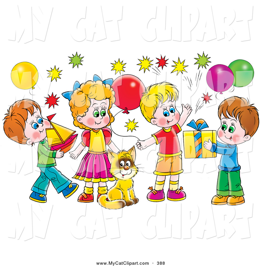 birthday party balloons clipart ; clip-art-birthday-party-clipart-1