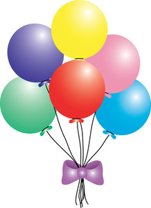 birthday party balloons clipart ; clip_art_illustration_of_a_balloon_bouquet_with_a_purple_bow_0515-1004-1920-2542_SMU