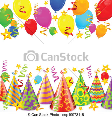 birthday party balloons clipart ; party-decorations-vector-clip-art_csp19973118