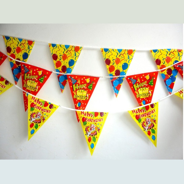 birthday party banner design ; 20PCS-LOT-Mixed-design-PE-happy-birthday-party-banner-Kids-party-decoration-Children-s-day-oranment
