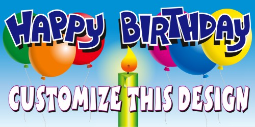 birthday party banner design ; 6879_Revised