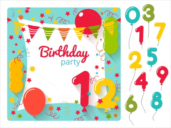 birthday party banner design ; Birthday-Party-Invitation-Banner-Template