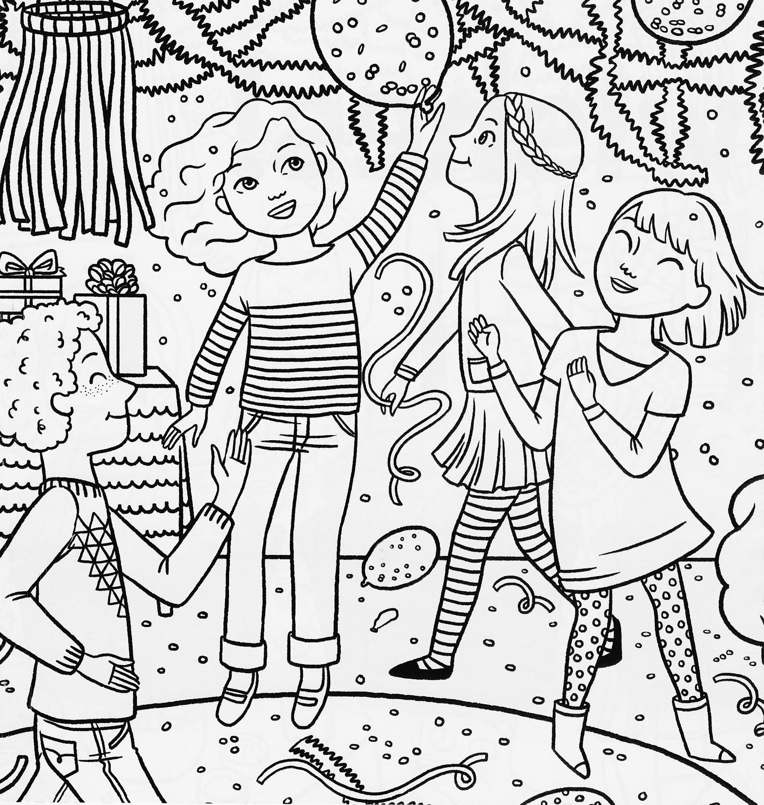 birthday party coloring pictures ; 0fee40ac3b0dcefb2c7d44773b0848e6