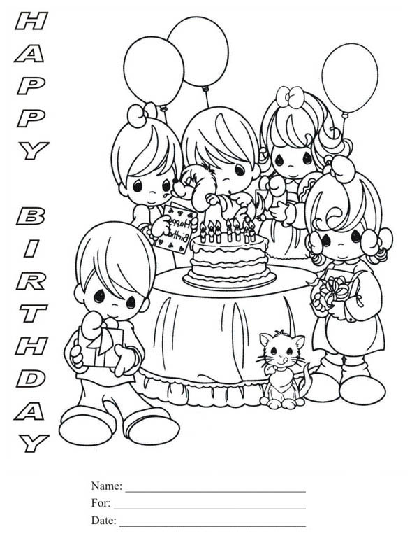 birthday party coloring pictures ; Happy-Birthday-Party-Coloring-Page