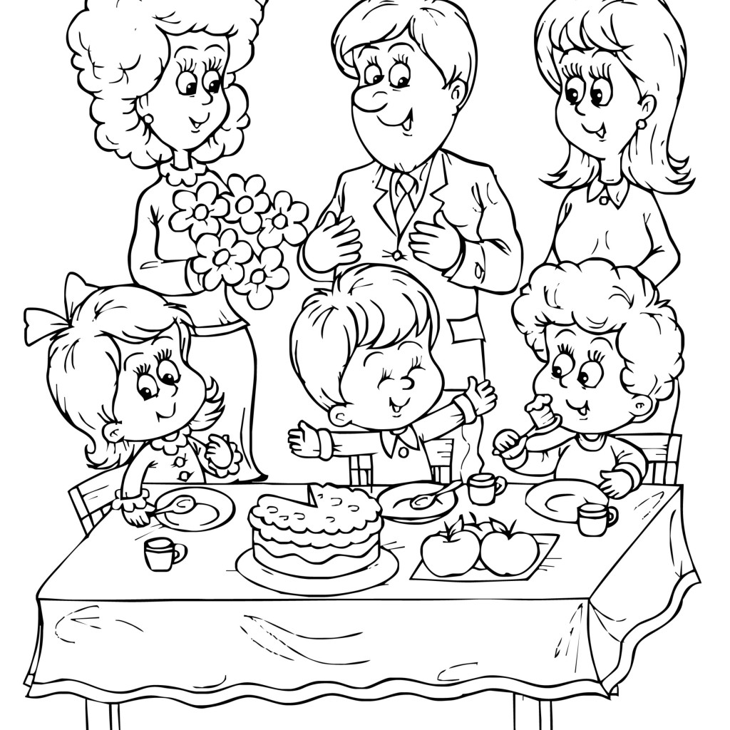 birthday party coloring pictures ; birthday%2520party%2520coloring%2520pages%2520;%2520Birthday-Party-Coloring-Pages-1024x1024