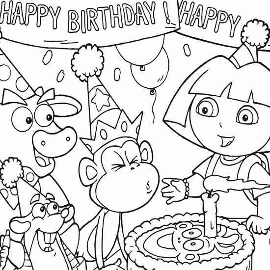 birthday party coloring pictures ; birthday-party-colouring-pages-drawn-birthday-coloring-book-pencil-and-in-color-drawn-birthday-moon-coloring-pages