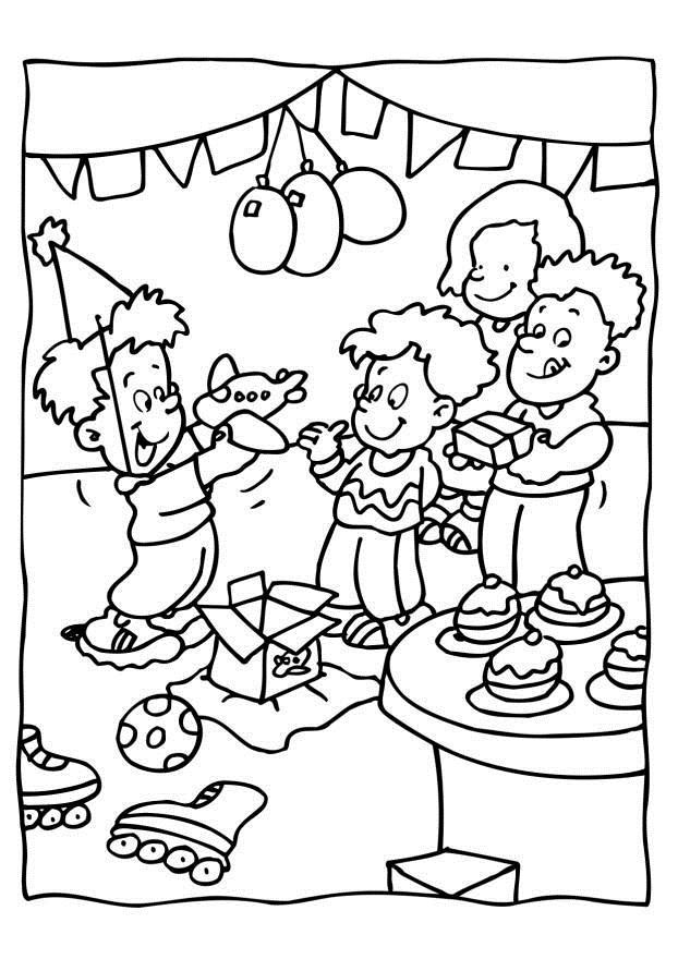 birthday party coloring pictures ; coloring-page-birthday-party-dl6560