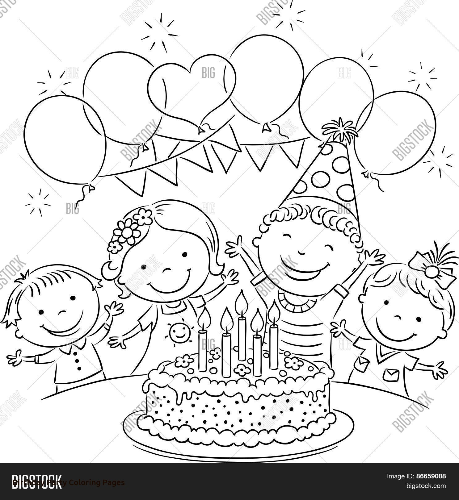 birthday party coloring pictures ; drawing-of-birthday-scene-birthday-party-scene-for-drawing-coloring-pages-birthday-party-with-birthday-party-coloring-pages