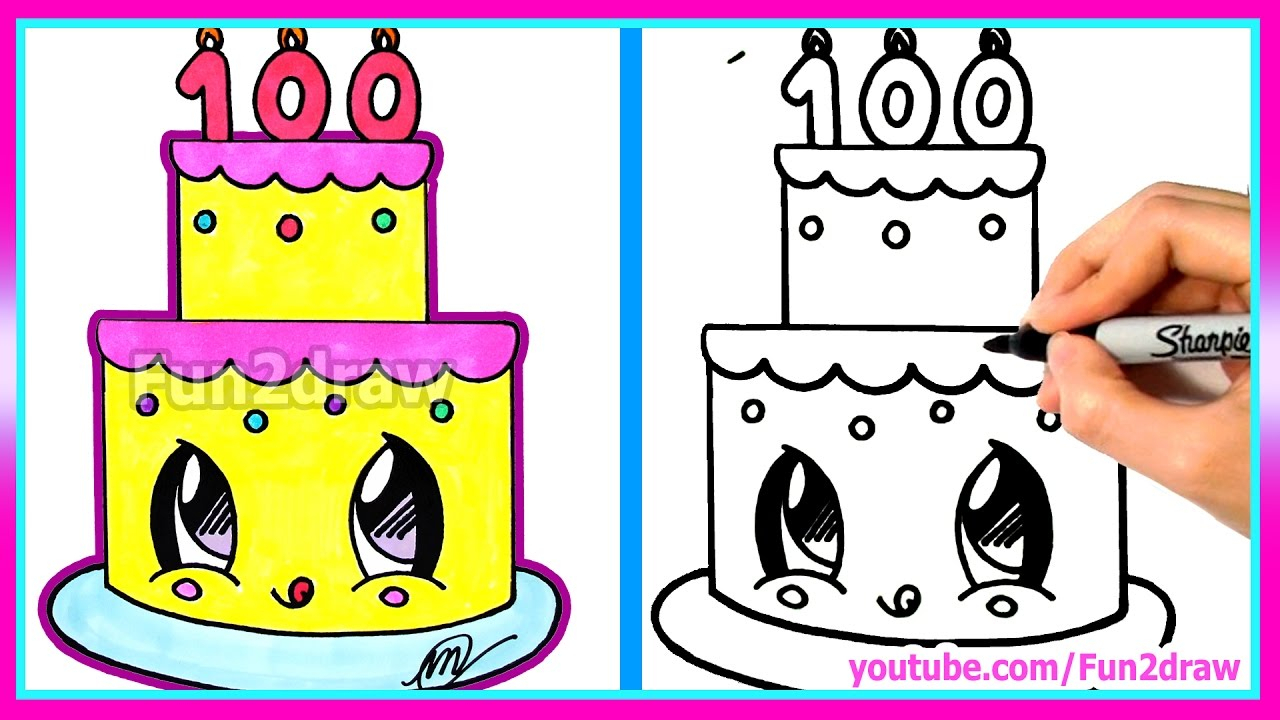 birthday party drawing easy ; pencil-sketch-of-birthday-party-how-to-draw-and-color-a-cute-cake-easy-100-million-views