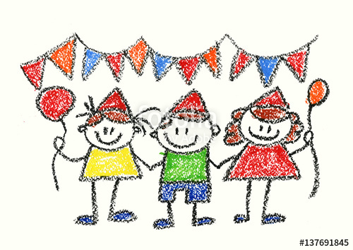 birthday party drawing for kids ; party-drawing-54