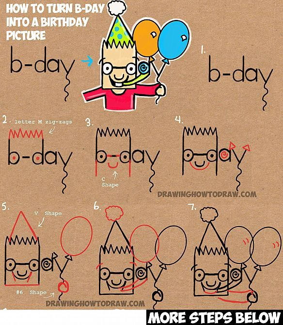 birthday party drawing step by step ; 94032266d93b4379f816f910ad41e689