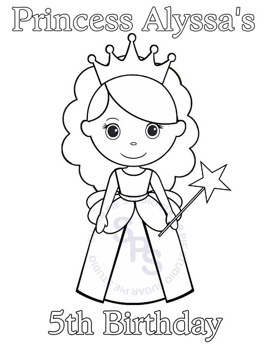 birthday party drawing step by step ; princess-pictures-for-kids-personalized-printable-princess-birthday-party-favor-childrens