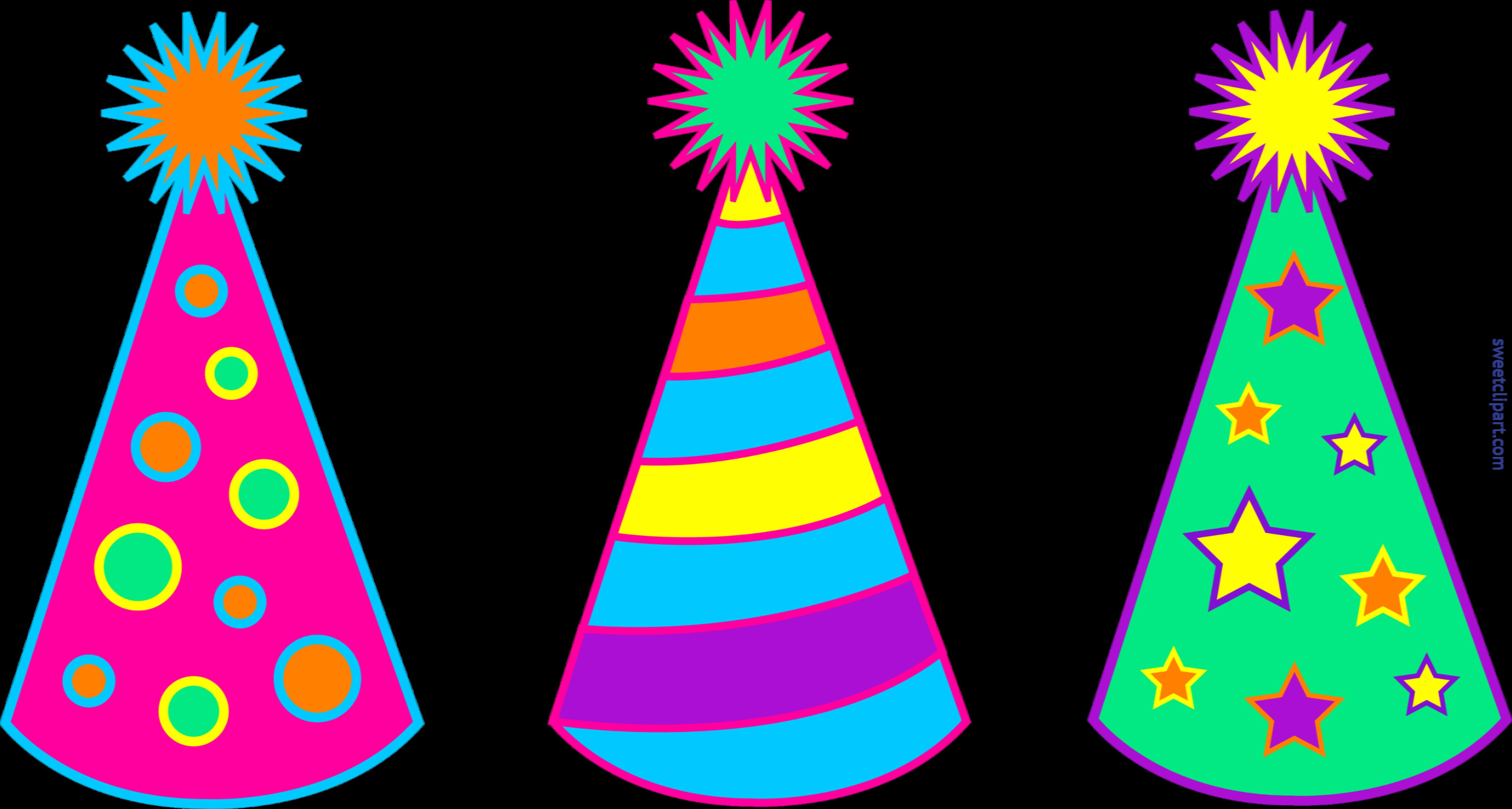 birthday party hat clipart ; Birthday-Party-Hats-Set-1-Clip-Art