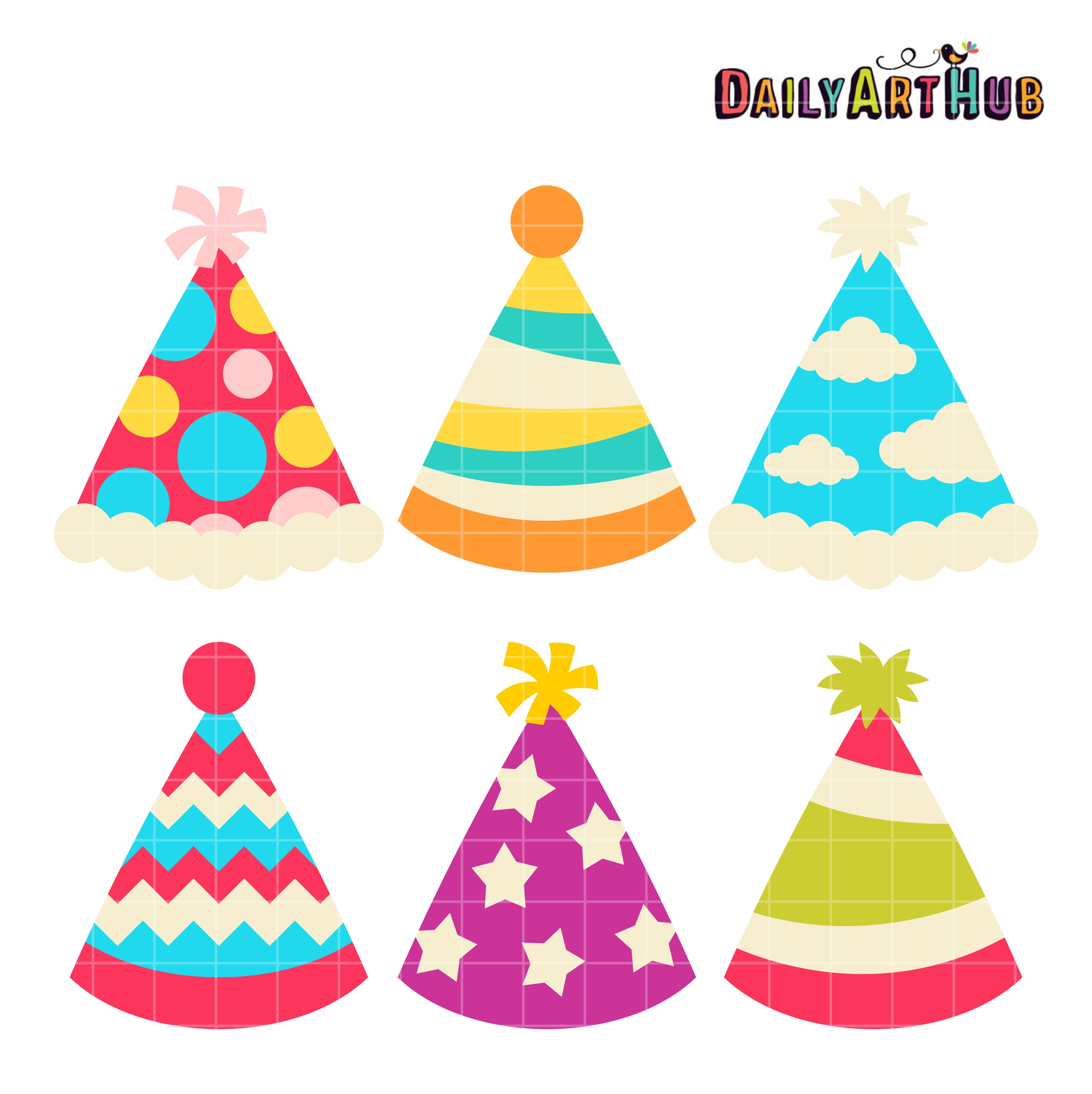 birthday party hat clipart ; Party-Hats