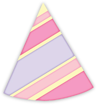 birthday party hat clipart ; Party_Hat_Stripes