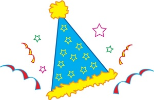 birthday party hat clipart ; birthday_party_hat_with_confetti_and_streamers_0071-0812-2217-3227_SMU