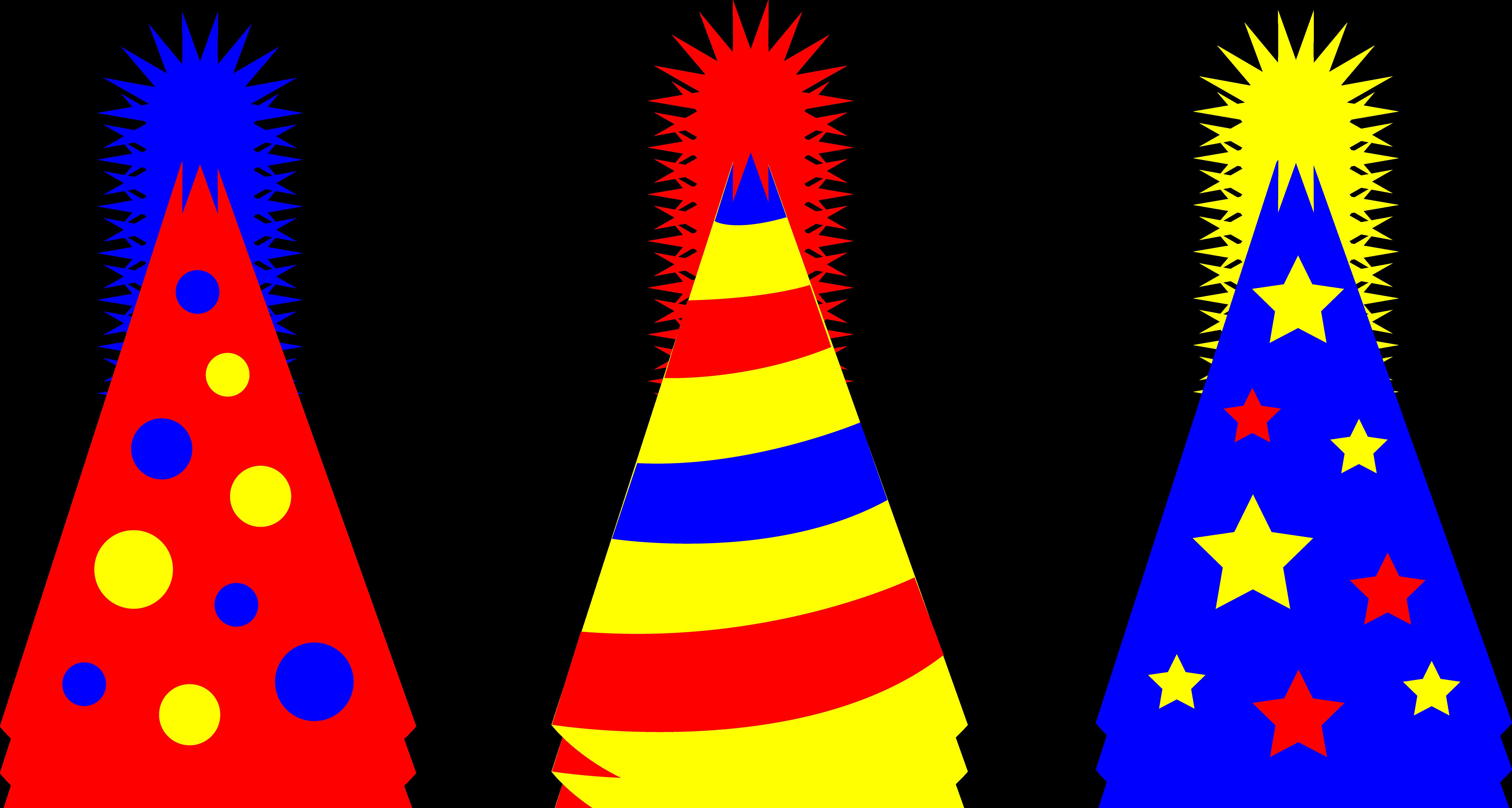 birthday party hat clipart ; birthday_party_hats_set_2