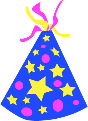 birthday party hat clipart ; party-hats1-blue