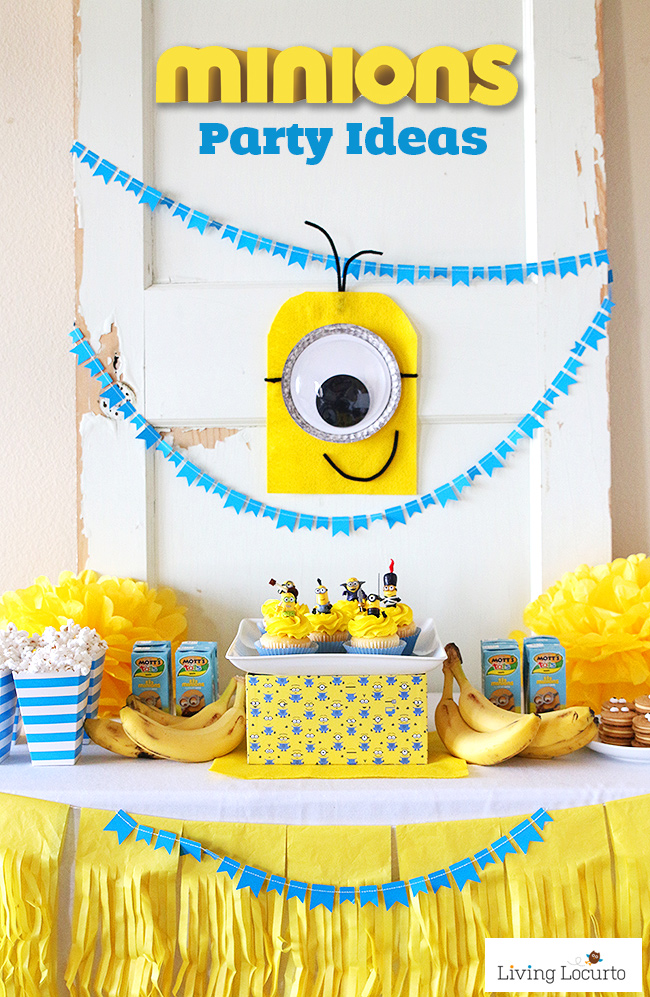 birthday party ideas and themes ; Minions-Party-Ideas