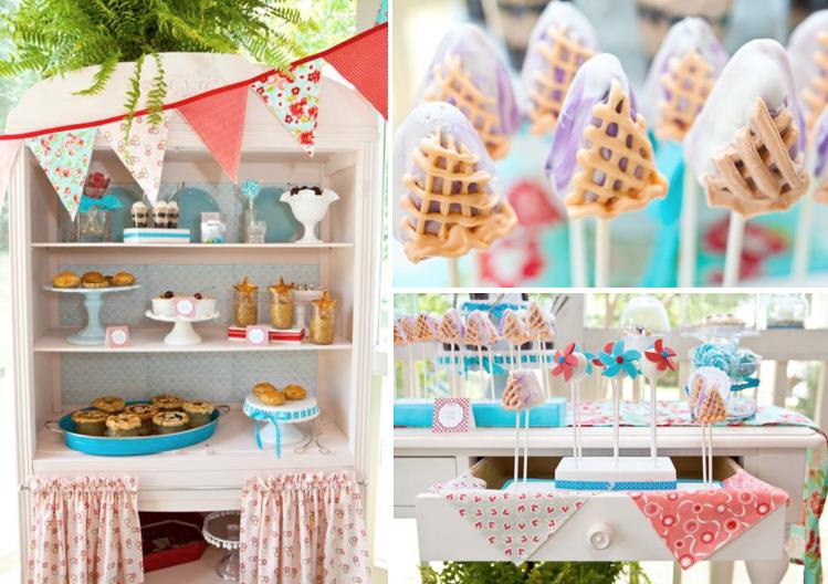 birthday party ideas and themes ; Vintage-All-America-Pie-Themed-Party-via-Karas-Party-Ideas-www