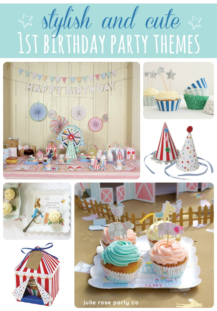 birthday party ideas and themes ; stylish-and-cute-1st-birthday-parties