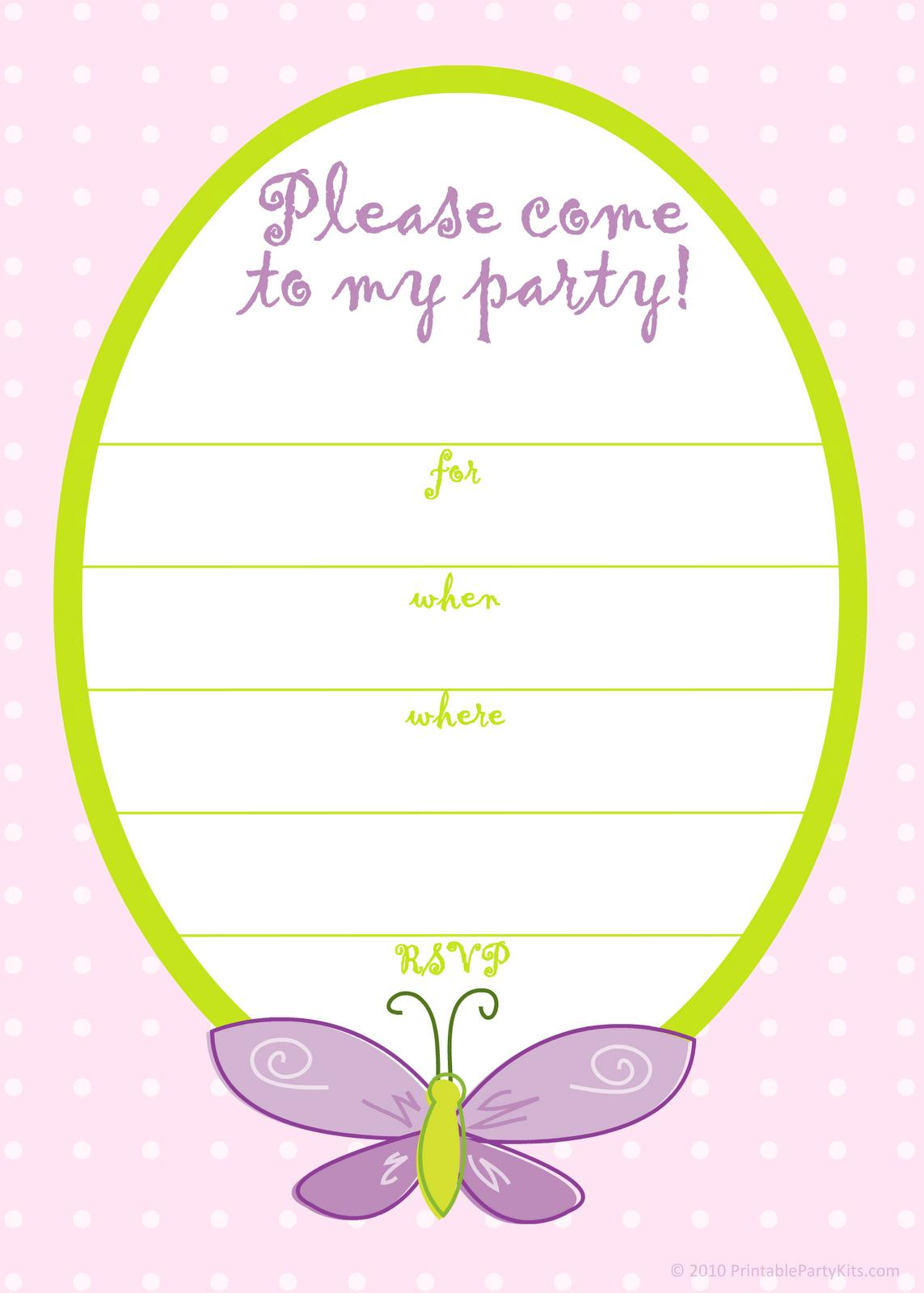 birthday party invitation card template free ; 5_brave_girl_party_invitation_templates_free_2