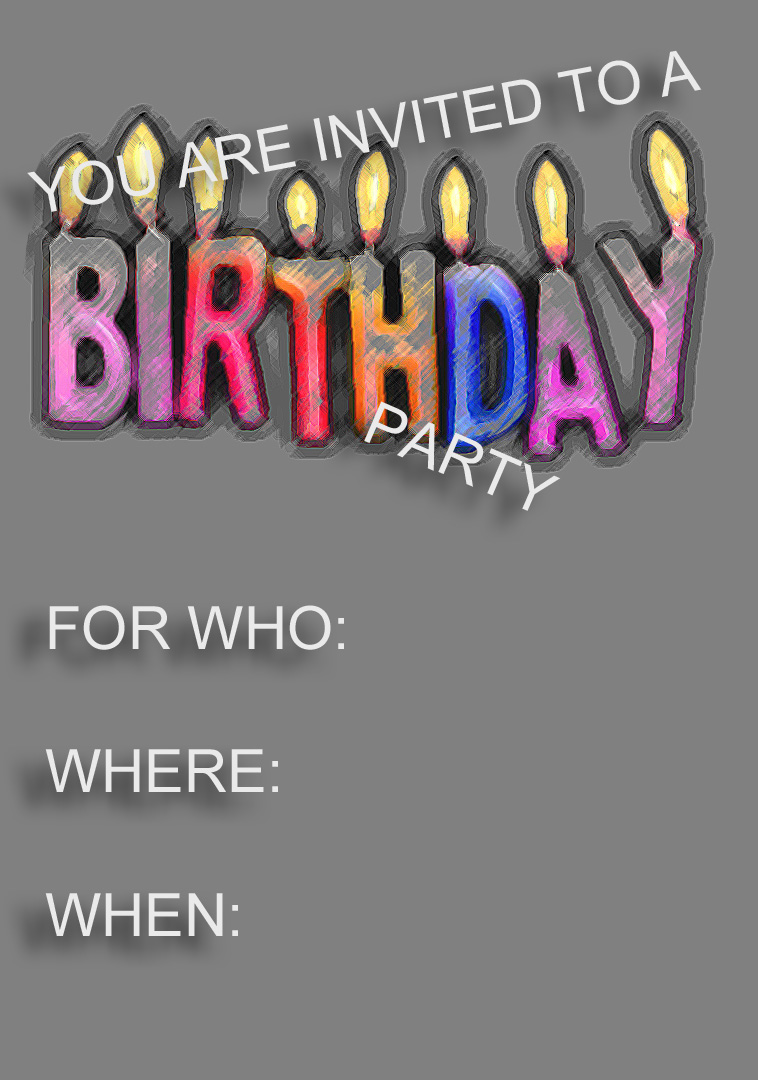 birthday party invitation card template free ; birthday-invitation-templat