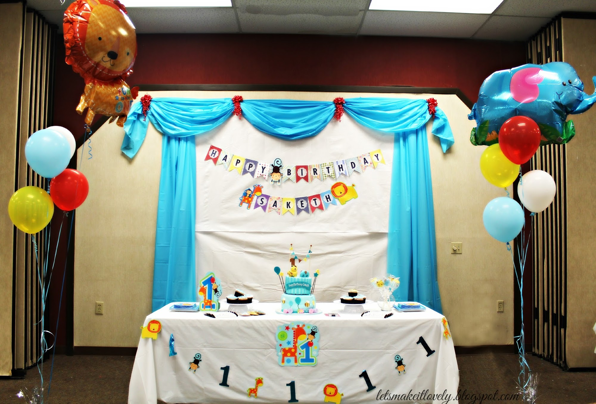 birthday party picture backdrops ; 1YearBoyBirthdayParty2