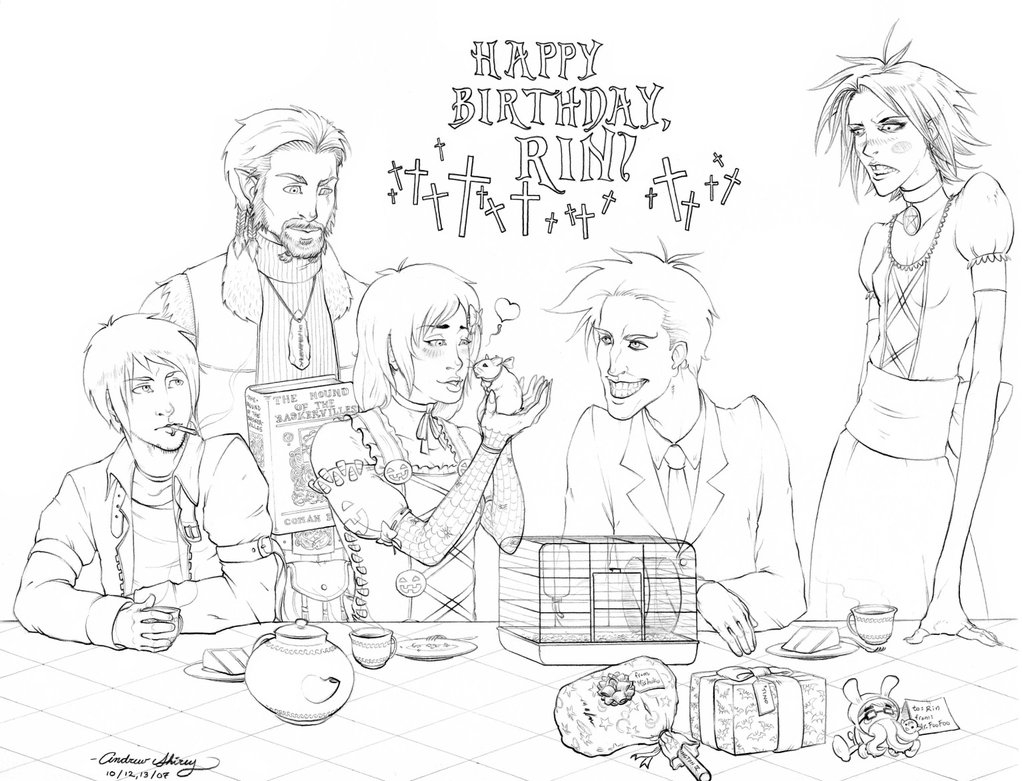 birthday party scene for drawing ; birthday-party-scene-for-drawing-goth-birthday-party-by-silentsketcher-on-deviantart