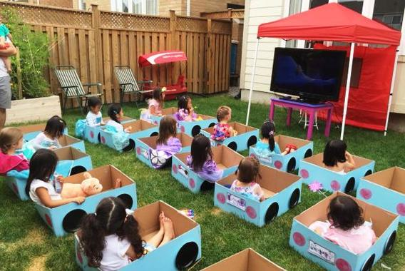 birthday party theme ideas ; outside-birthday-party-ideas-for-toddlers-unique-leahs-drive-in-movie-birthday-party-its-daylight-so-a-projector-of-outside-birthday-party-ideas-for-toddlers
