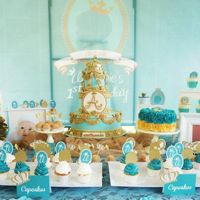 birthday party themes for 1 year old ; Royal-Prince-1st-Birthday-Party-e1485147897204