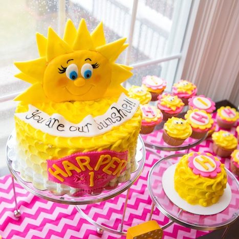 birthday party themes for 1 year old ; Sunshine-Theme-Party-e1485000449944