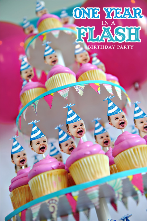 birthday party themes for 1 year old ; oneyearinaflash_firstbirthdayparty_1
