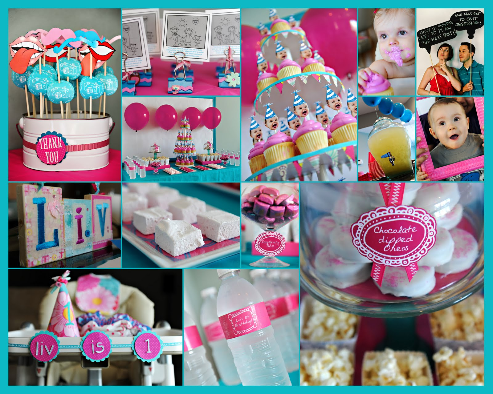 birthday party themes for 1 year old ; party+collage
