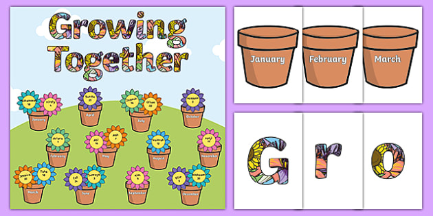 birthday picture display ; T-C-1506-Growing-Together-Birthday-Display-Pack_ver_5
