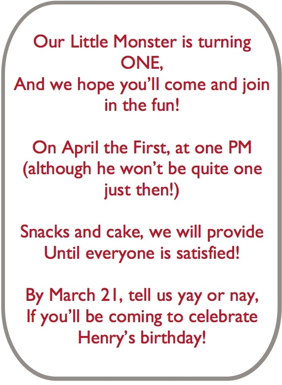 birthday poem for child ; babys-first-birthday-poem-a-monster-of-a-first-birthday-party-the-homes-i-have-made