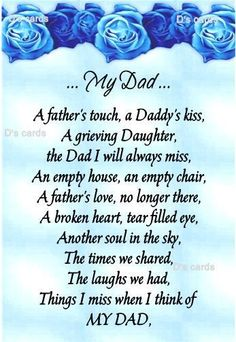 birthday poem for dad in heaven from daughter ; 318239ab9168a8019c85958543209336