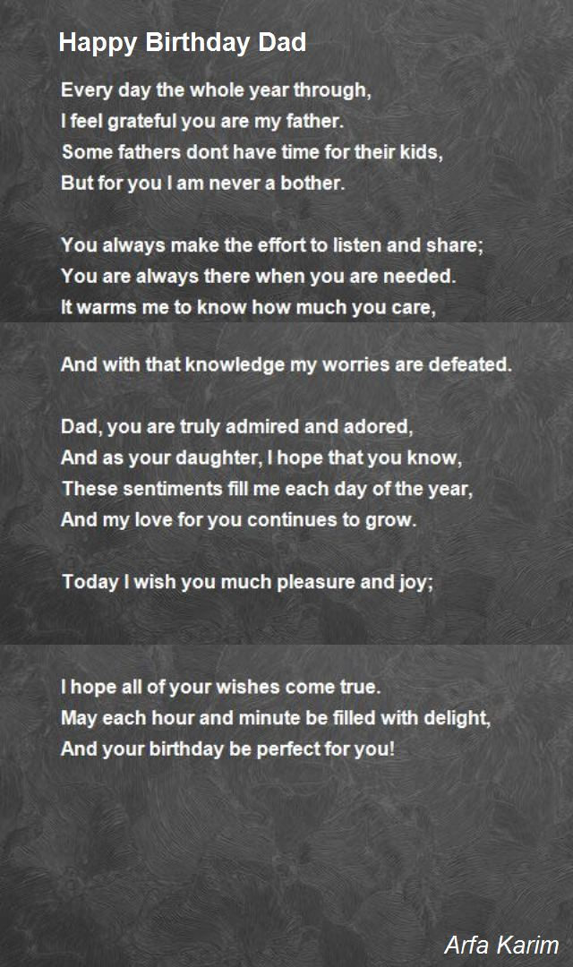 birthday poem for dad in heaven from daughter ; happy-birthday-dad