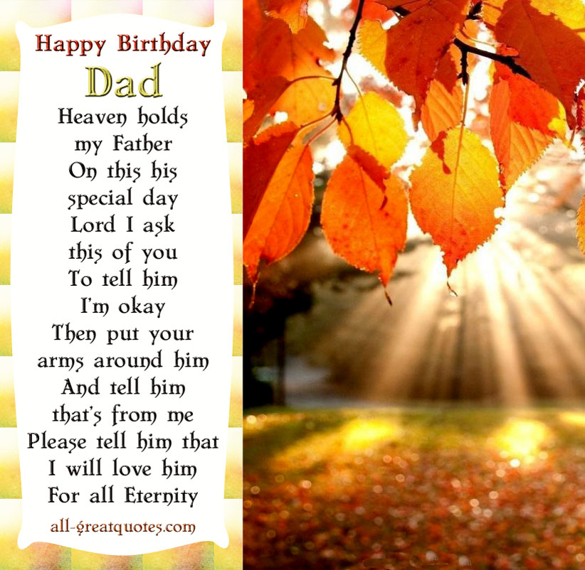 birthday poem for deceased father ; dc8b3841d8466fbef81b6b4affc7636b