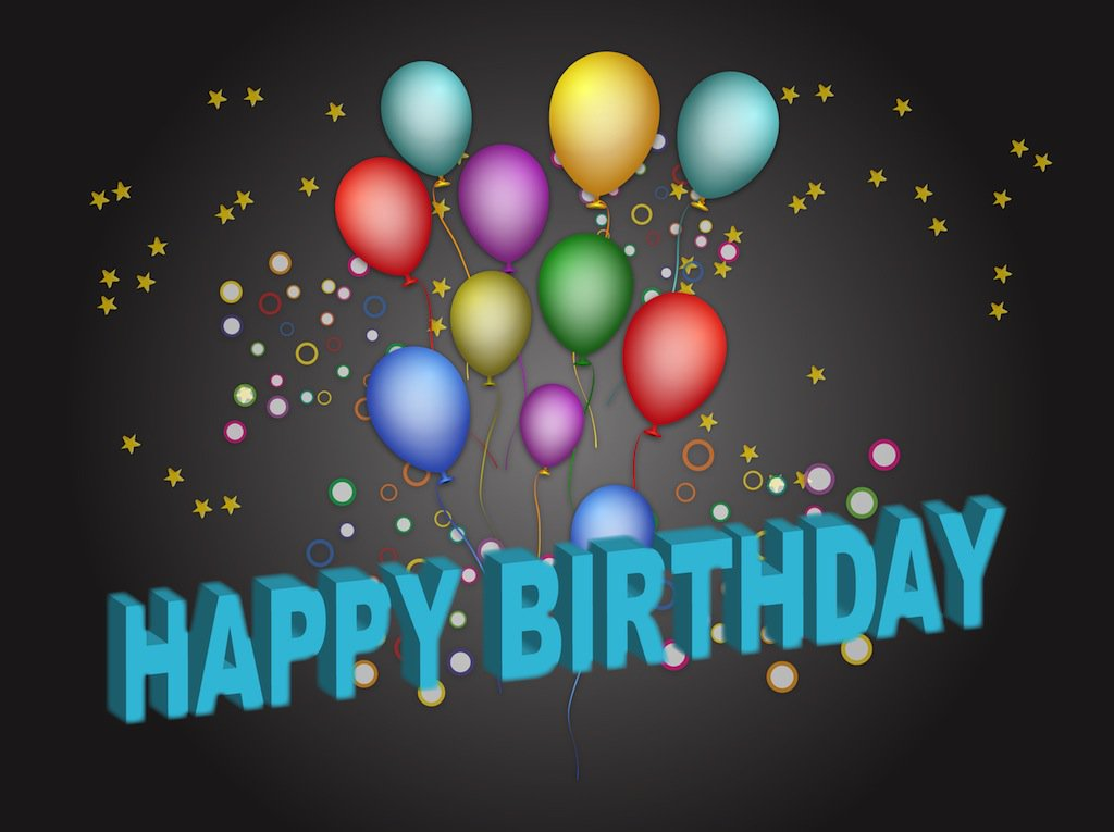birthday poster maker online free ; FreeVector-Birthday-Poster