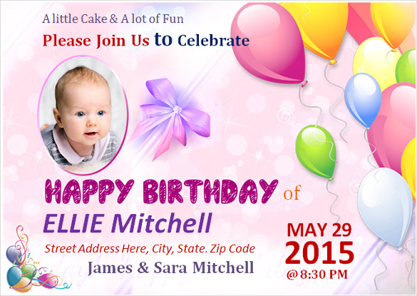 birthday poster making ; Children-Birthday-Poster-Template