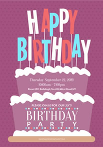 birthday poster making ; happy-birthday-party-poster