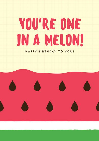 birthday poster online ; canva-watermelon-birthday-cake-poster-MAB7qvrE1K0