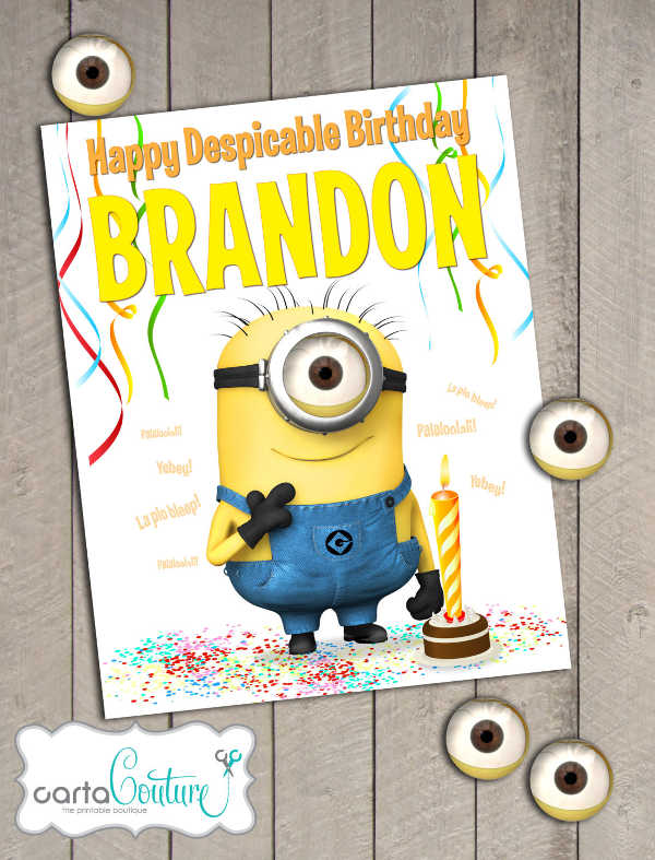 birthday posters diy ; Diy-Minion-Birthday-Poster